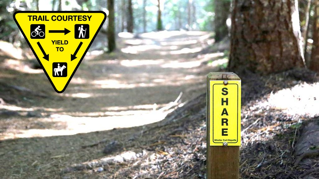 mountain biking tips - trail etiquette courtesy - share