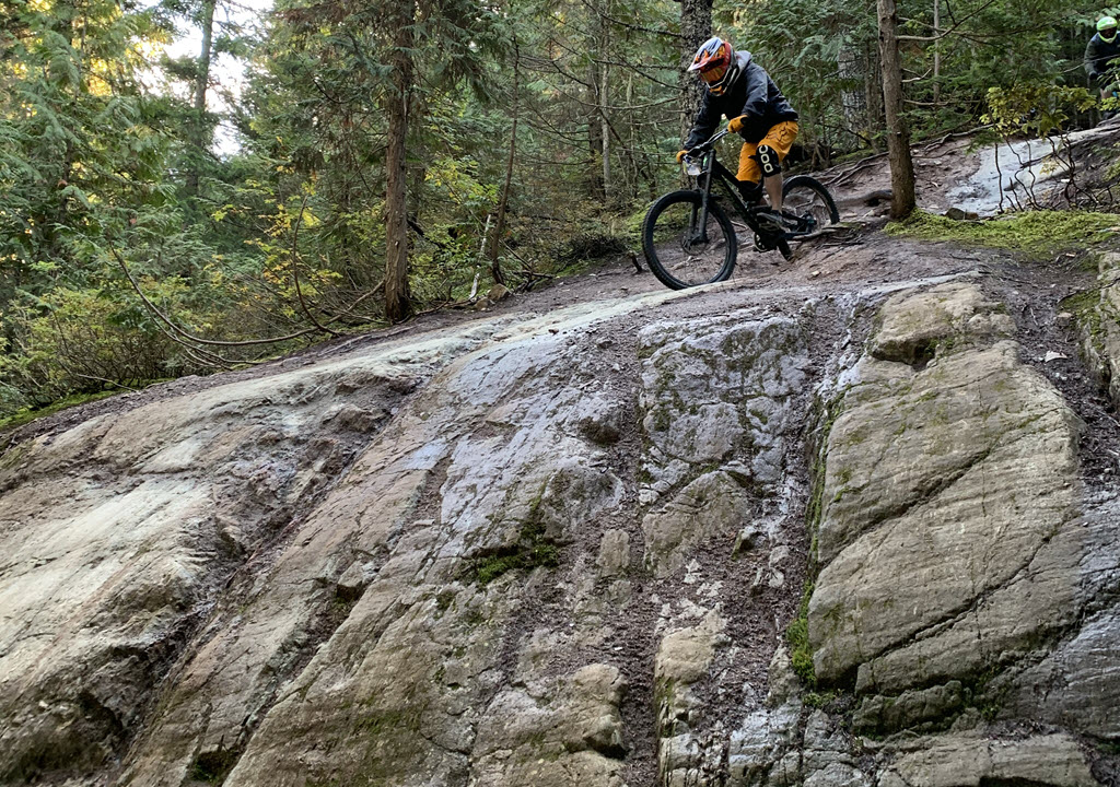 scary mountain biking feature