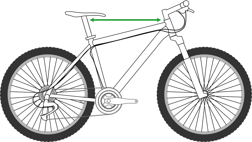 distance between saddle and handlebar for a mountain bike